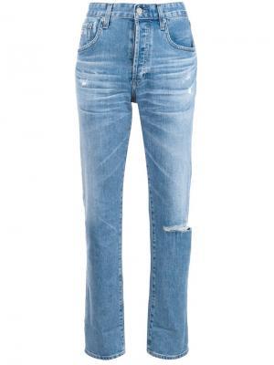 Джинсы прямого кроя Ag Jeans. Цвет: синий