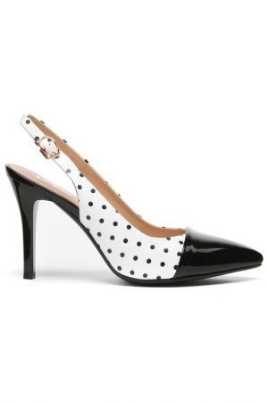 Туфли летние открытые Daze. Цвет: черный