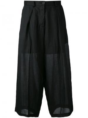 Укороченные расклешенные брюки Isabel Benenato. Цвет: чёрный