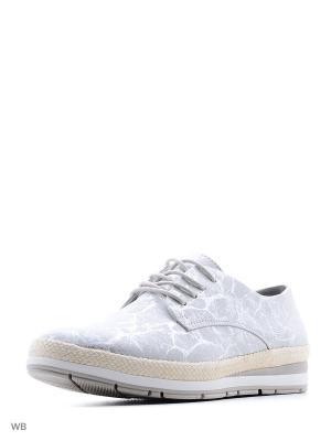Ботинки Marco Tozzi. Цвет: серый, серебристый