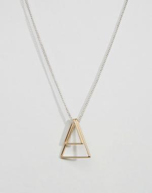 Icon Brand Ожерелье с золотистыми геометрическими подвесками. Цвет: золотой