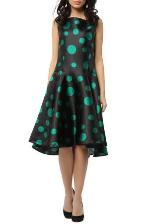 Платье со спинкой длиннее переда Kata Binska. Цвет: черный, изумрудный