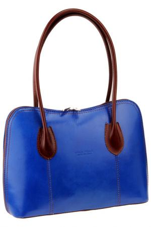 Bag MATILDA ITALY. Цвет: blue and brown