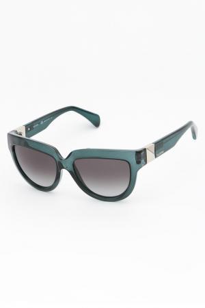 Очки солнцезащитные Valentino. Цвет: голубой