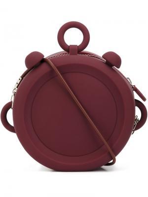 Средний клатч круглой формы Xiao Li. Цвет: розовый и фиолетовый