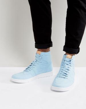 Jordan Синие высокие кроссовки Nike Air 1 Retro Decon 867338-425. Цвет: синий