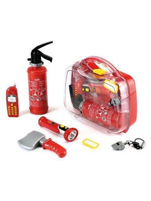 Набор пожарного в кейсе KLEIN. Цвет: красный