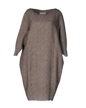 Платье до колена UN-NAMABLE. Цвет: голубиный серый