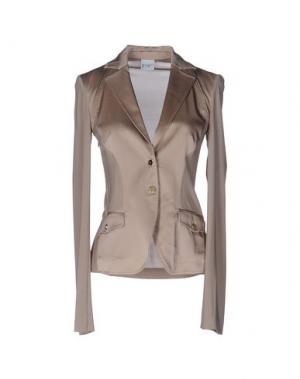 Пиджак PF PAOLA FRANI. Цвет: голубиный серый