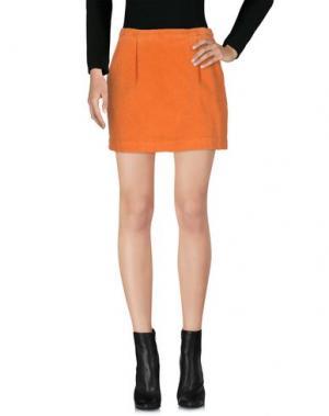 Мини-юбка KRISTINA TI. Цвет: оранжевый