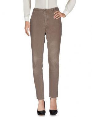 Повседневные брюки JFOUR. Цвет: голубиный серый
