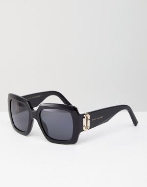 Marc Jacobs Квадратные солнцезащитные очки в массивной оправе. Цвет: черный