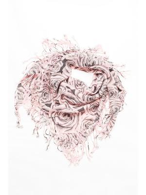 Платок Shapkoff. Цвет: бледно-розовый, антрацитовый