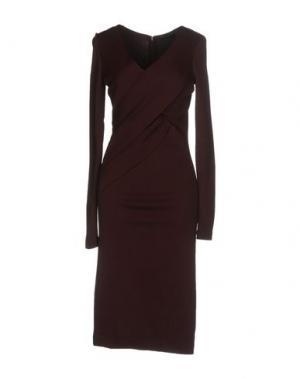 Платье до колена DONNA KARAN. Цвет: красно-коричневый