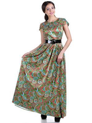 Платье OLIVEGREY. Цвет: зеленый, голубой, красный, желтый
