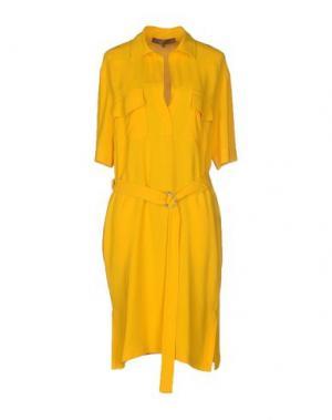 Платье до колена SPACE STYLE CONCEPT. Цвет: желтый