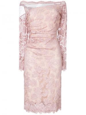 Кружевное платье по фигуре Olvi´S. Цвет: розовый и фиолетовый