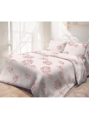 Постельное белье Самойловский текстиль. Цвет: бежевый, красный