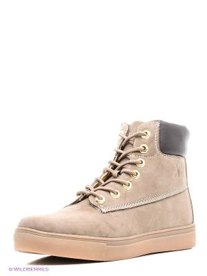 Ботинки XTI. Цвет: светло-бежевый, темно-серый