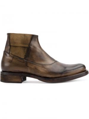 Ботинки с панельным дизайном Cherevichkiotvichki. Цвет: коричневый