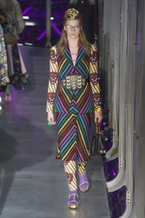 Шерстяной комбинезон Gucci. Цвет: multicolor