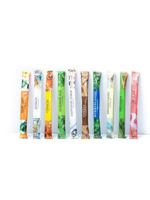 Набор аромапалочек в мягкой упаковке, 20 штук: 10 ароматов по 2 шт Индокитай. Цвет: прозрачный