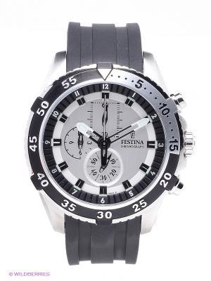 Часы Festina. Цвет: черный, серебристый