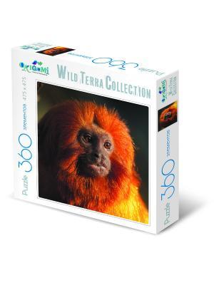 Пазл 360 элементов. 2016-год Огненной обезьяны. Origami. Цвет: оранжевый, белый, коричневый