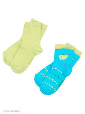 Носки, 2 пары Malerba. Цвет: салатовый, голубой