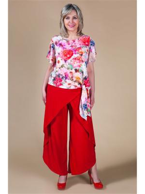 Блуза Милада. Цвет: красный, белый, розовый