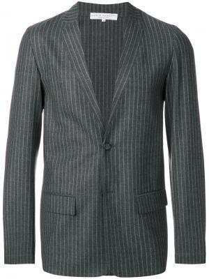 Пиджак в тонкую полоску Lucio Vanotti. Цвет: серый