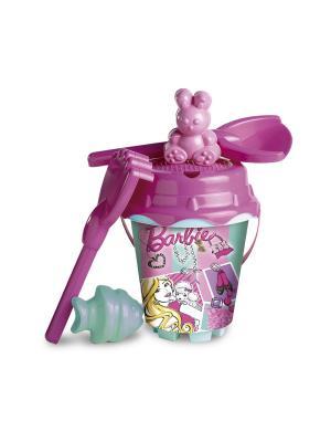 Песочный набор Барби Unice. Цвет: розовый, белый, голубой