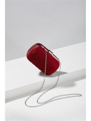 Шелковый клатч футляр Волнительный Момент со съемной цепочкой Nothing but Love. Цвет: темно-красный