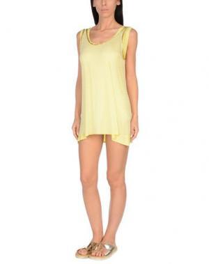 Пляжное платье AMORISSIMO. Цвет: желтый