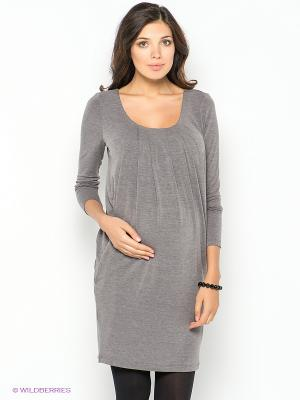 Платье UNIOSTAR. Цвет: серо-коричневый