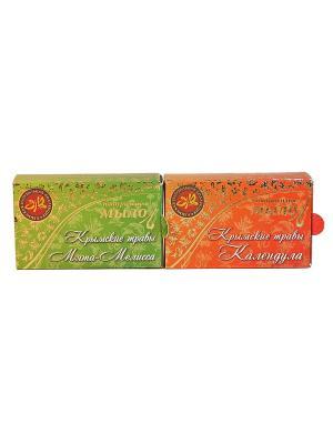 Набор натуральное мыло крымские травы 1 Крымская Натуральная Коллекция. Цвет: белый