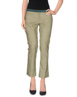 Повседневные брюки TERESA DAINELLI. Цвет: зеленый-милитари