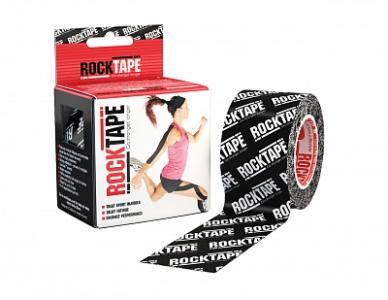 Кинезио-тейп  5 см х м, чёрный логотип Rocktape