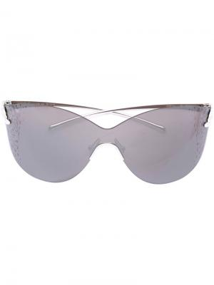 Солнцезащитные очки Panthère Mask Cartier. Цвет: металлический