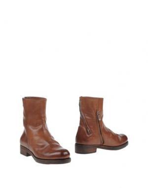 Полусапоги и высокие ботинки INK. Цвет: коричневый