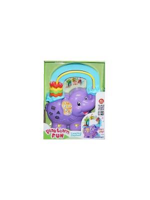 Музыкальная игрушка-считалка Веселый слоник Keenway. Цвет: фиолетовый