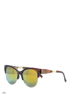 Солнцезащитные очки Vittorio Richi. Цвет: желтый, коричневый
