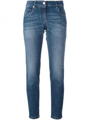 Укороченные джинсы Brunello Cucinelli. Цвет: синий