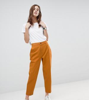 ASOS Чиносы в винтажном стиле цвета охры DESIGN. Цвет: оранжевый