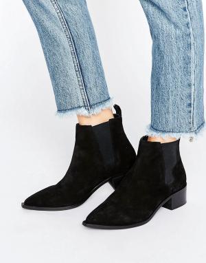 Office Черные замшевые ботинки челси Agave. Цвет: черный
