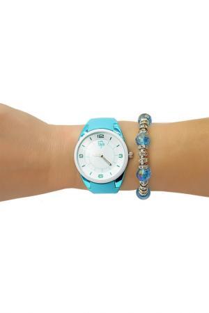 Набор: часы, браслет Taya. Цвет: белый, бирюзовый