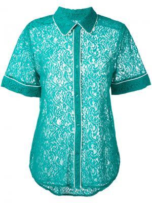 Рубашка Noustafa Essentiel Antwerp. Цвет: зелёный