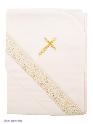 Крестильное полотенце Ангел мой. Цвет: кремовый, золотистый