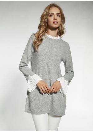 Пуловер MY STYLE. Цвет: серый