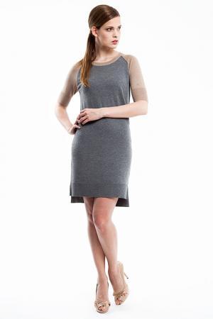 Платье Baukjen. Цвет: серый